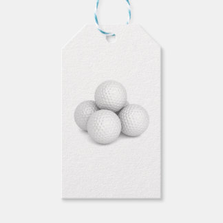 Group of golf balls gift tags