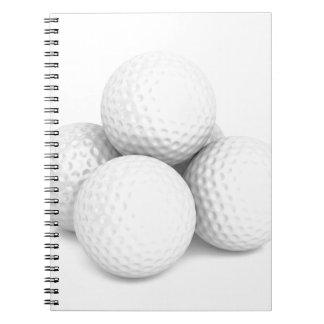 Group of golf balls notebook