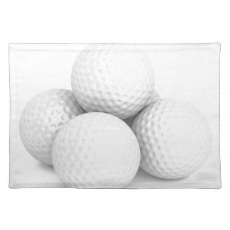 Group of golf balls placemat