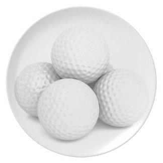Group of golf balls plate