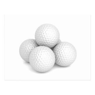 Group of golf balls postcard