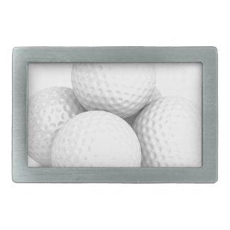 Group of golf balls rectangular belt buckle