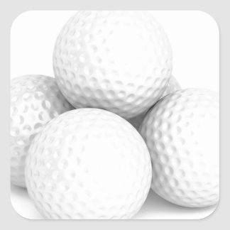 Group of golf balls square sticker