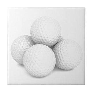 Group of golf balls tile