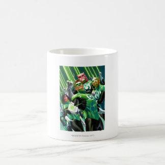 Group of Green Lanterns Basic White Mug