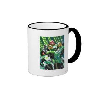 Group of Green Lanterns Ringer Coffee Mug