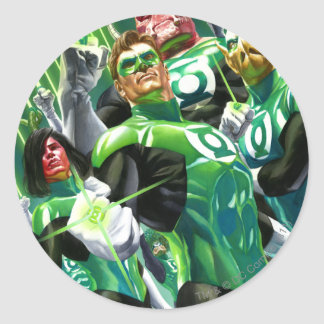 Group of Green Lanterns Round Sticker