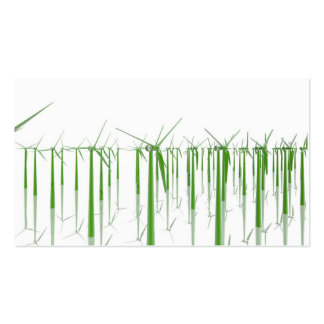 Group of green windmills business card