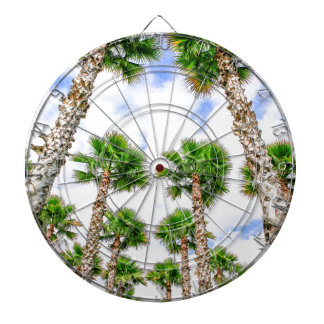Group of high straight palm trees dartboard