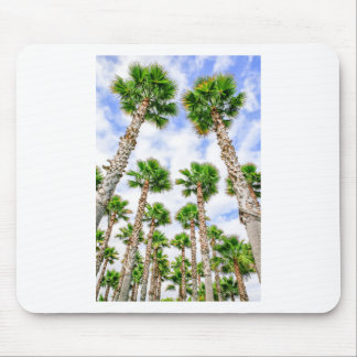 Group of high straight palm trees mouse pad