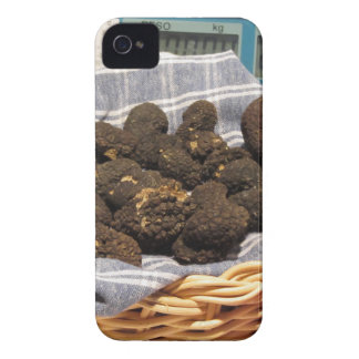 Group of italian expensive black truffles iPhone 4 case