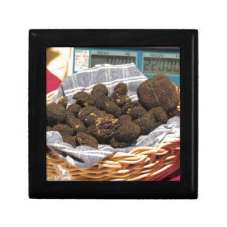 Group of italian expensive black truffles keepsake boxes