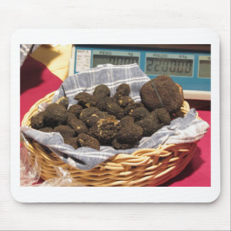 Group of italian expensive black truffles mouse pad