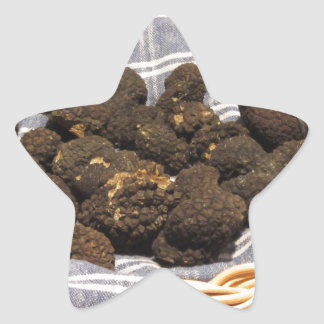Group of italian expensive black truffles star sticker