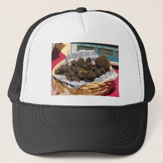 Group of italian expensive black truffles trucker hat