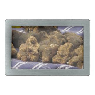 Group of italian expensive white truffles belt buckle