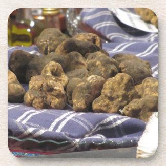 Group of italian expensive white truffles coasters