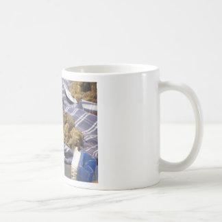 Group of italian expensive white truffles coffee mug
