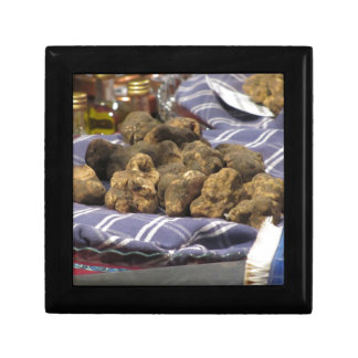 Group of italian expensive white truffles gift box