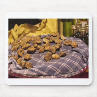 Group of italian expensive white truffles mouse pad