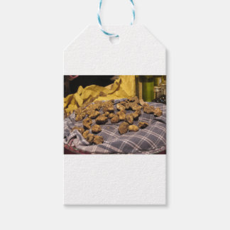 Group of italian expensive white truffles pack of gift tags