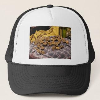 Group of italian expensive white truffles trucker hat