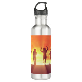 Group of Kids Having Fun as a Abstract Background 710 Ml Water Bottle
