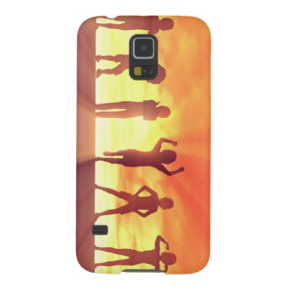 Group of Kids Having Fun as a Abstract Background Galaxy S5 Case