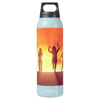 Group of Kids Having Fun as a Abstract Background Insulated Water Bottle
