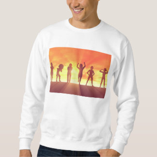 Group of Kids Having Fun as a Abstract Background Sweatshirt