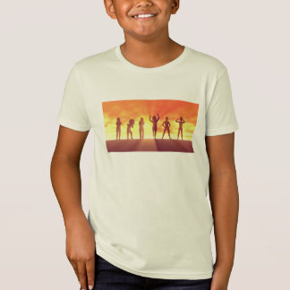 Group of Kids Having Fun as a Abstract Background T-Shirt