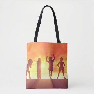 Group of Kids Having Fun as a Abstract Background Tote Bag