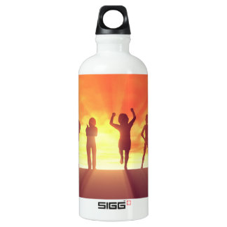 Group of Kids Having Fun as a Abstract Background Water Bottle