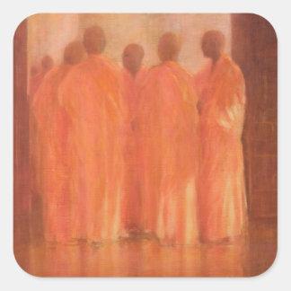 Group of Monks Vietnam Square Sticker
