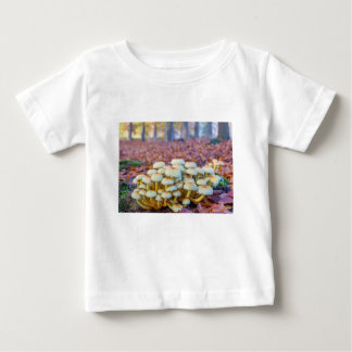 Group of mushrooms in fall beech forest baby T-Shirt