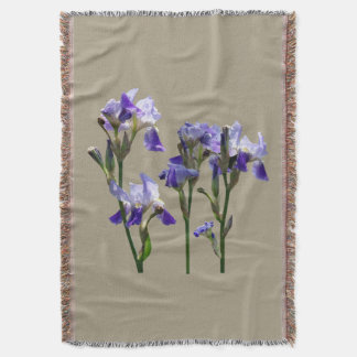 Group of Purple Irises Throw