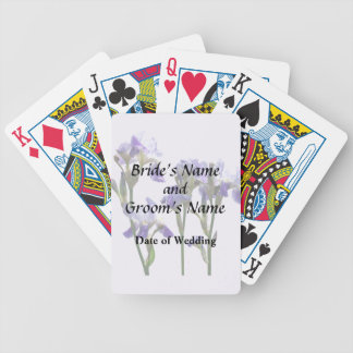 Group of Purple Irises Wedding Products Bicycle Playing Cards