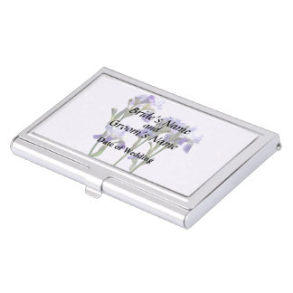 Group of Purple Irises Wedding Products Case For Business Cards
