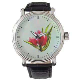 Group of Red Tulips Watch
