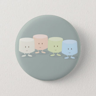 Group of smiling marshmallows 2 inch round button