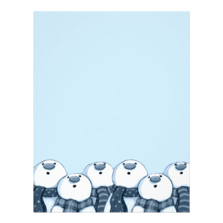 Group of Snowmen Christmas Letterhead