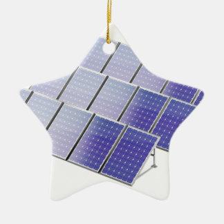 Group of solar panels ceramic ornament