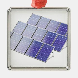 Group of solar panels metal ornament