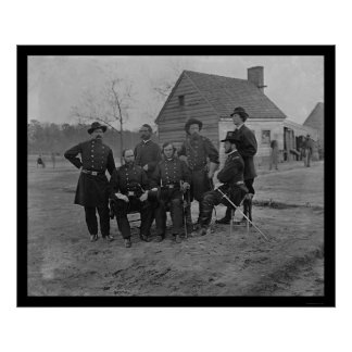 Group of Surgeons at Fort Harrison, VA 1865 Poster