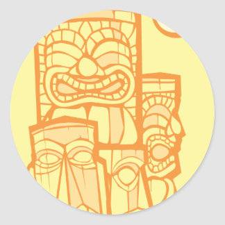Group of Tikis Classic Round Sticker