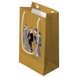 Group of Vintage Japanese Geisha Women Small Gift Bag