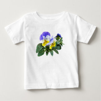 Group Of Yellow And Purple Pansies Baby T-Shirt