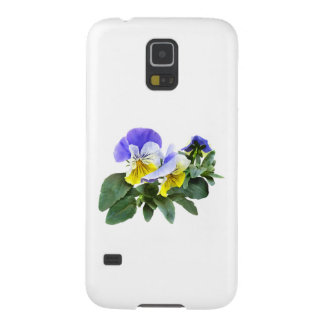 Group Of Yellow And Purple Pansies Galaxy S5 Case