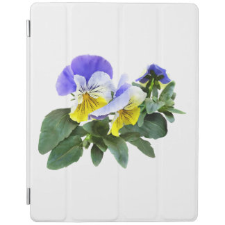 Group Of Yellow And Purple Pansies iPad Cover