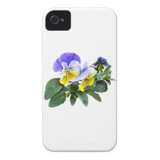 Group Of Yellow And Purple Pansies iPhone 4 Covers